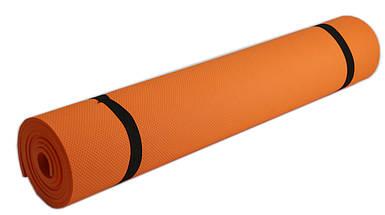 Коврик для фитнеса, йогамат (MS 0380-3) EVA 173-61 см. Оранжевый 6 мм.