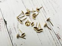 Декоративные кнопки под золото 0,6 см*1,5 см (набор 17 шт)