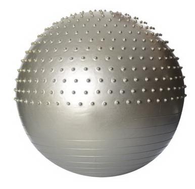 Мяч для фитнеса шар фитбол гимнастический для гимнастики с шипами массажный 65 см серый Profi