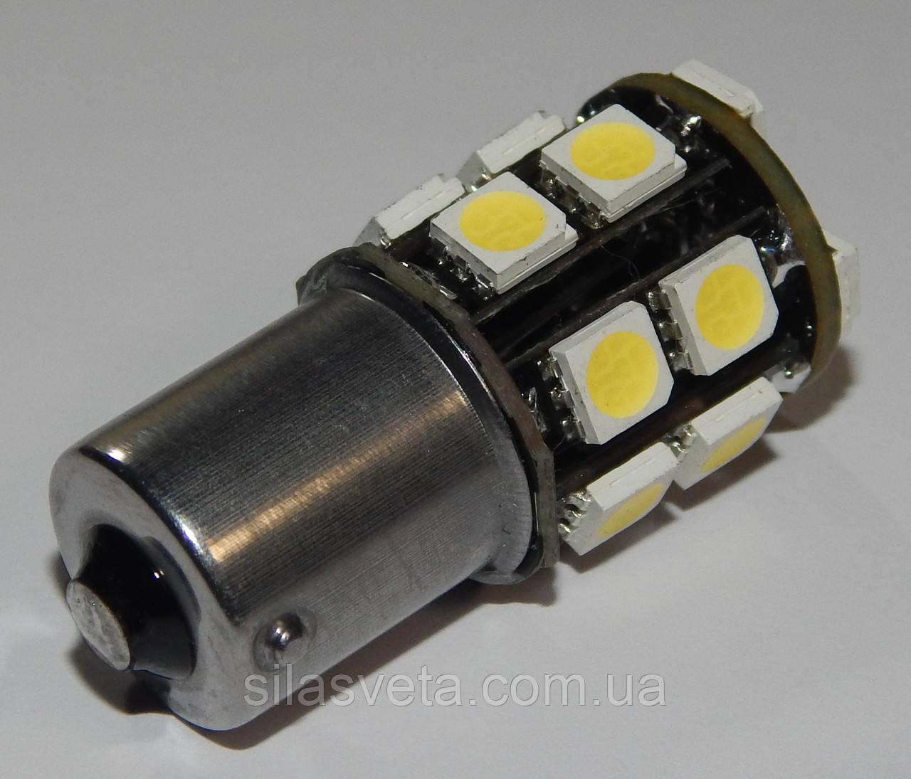 Автомобильный светодиод P21W (17-SMD)(5050)(БЕЛЫЙ)