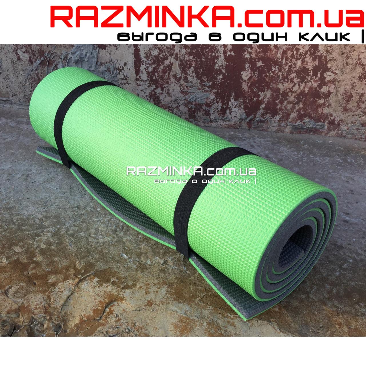 Толстый каремат 1800х600х12мм, зелено-серый