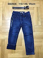 Джинсы утепленные для мальчиков оптом, Grace, 116-146 см,  № B82808, фото 1