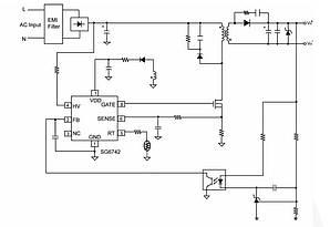 FAN6742MR, PWM контроллер питания, 100KHz, SOP8