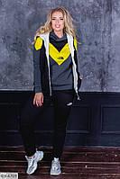 Женский спортивный костюм тройка, 48-50, 52-54 Желтый