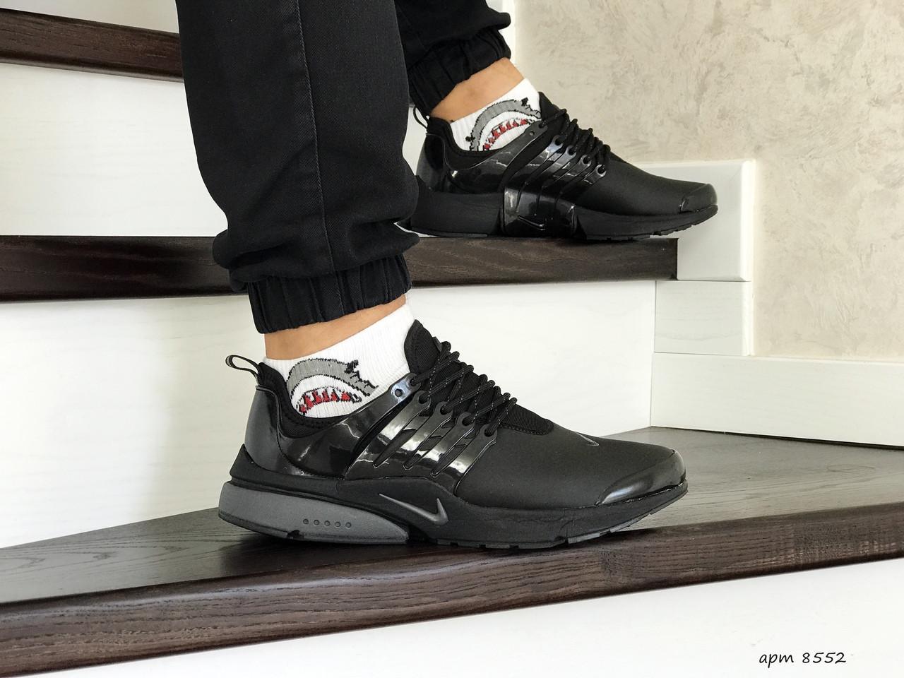 Мужские кроссовки Nike air presto,темно черные