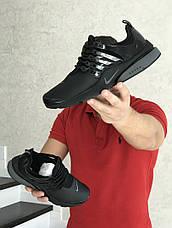 Мужские кроссовки Nike air presto,темно черные, фото 2