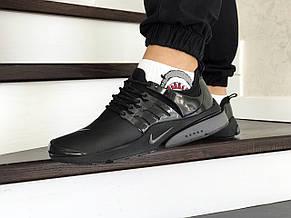 Мужские кроссовки Nike air presto,темно черные, фото 3