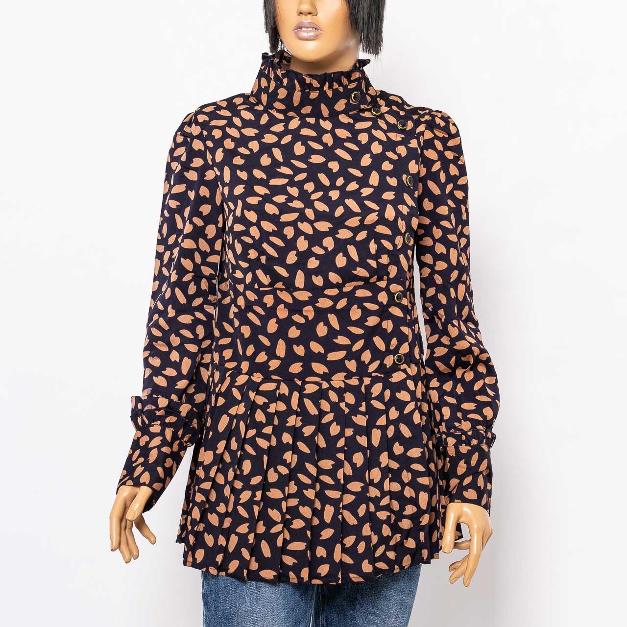 Блуза женская Y TWO OS6101 BROWN