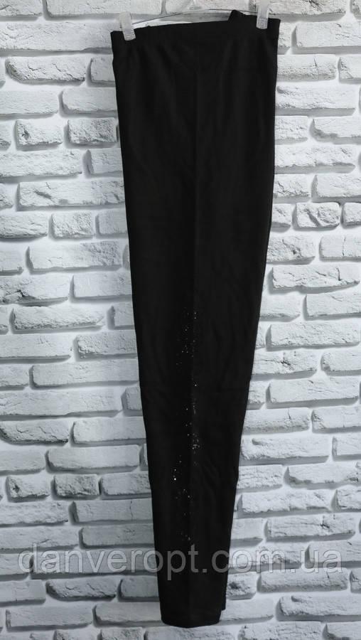Лосины женские модные стильные со стразами размер 2XL-3XL батал купить оптом со склада 7км Одесса