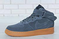 Мужская Зимняя обувь Nike Air Force 1 Grey