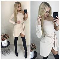 Модное платье бежевого цвета 42,44 р.