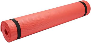 Коврик для фитнеса, йогамат (MS 0380-3) EVA 173-61 см. Красный 6 мм.