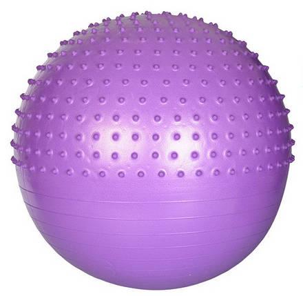 Мяч для фитнеса шар фитбол гимнастический для гимнастики с шипами массажный 65 см фиолетовый Profi, фото 2