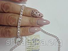 Ланцюжок Арабський Бісмарк з рожевими каменями супер легкий