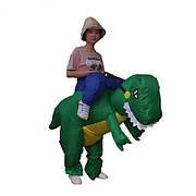 Надувной костюм зеленого динозавра для взрослого, хэллоуин, косплэй. Неси меня динозавр