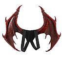 Крылья  Дракона (45х60см) с хвостом Красные, фото 4