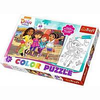 Пазл с раскраской Trefl Дора и друзья 40 элементов (36512)