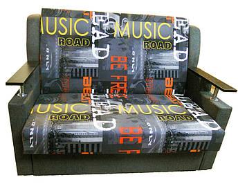 Диван канапка Березня 110см (Музика+сірий) Дитячий диван з нішею для білизни, фото 2