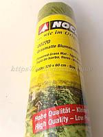 "Noch 00270 Травяной коврик ""Цветущий луг ""для покрития ланшафта макета, размер 120x60см"