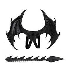 Крылья  Дракона (45х60см) с хвостом Черные