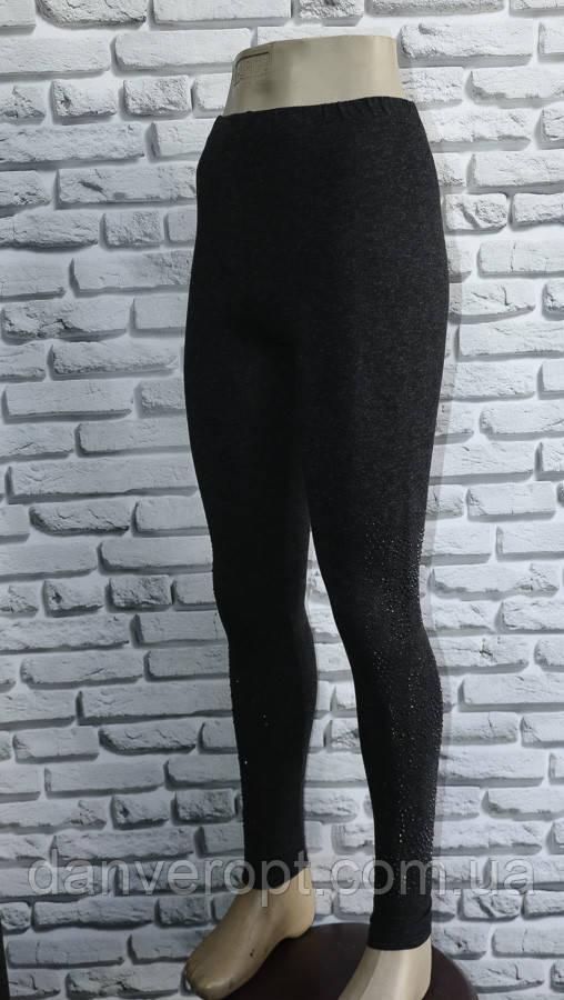 Лосины женские модные стильные со стразами размер M-2XL норма купить оптом со склада 7км Одесса