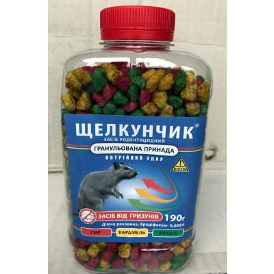Щелкунчик гранула в ПЭТ бутылке 190 гр средство от грызунов мышей