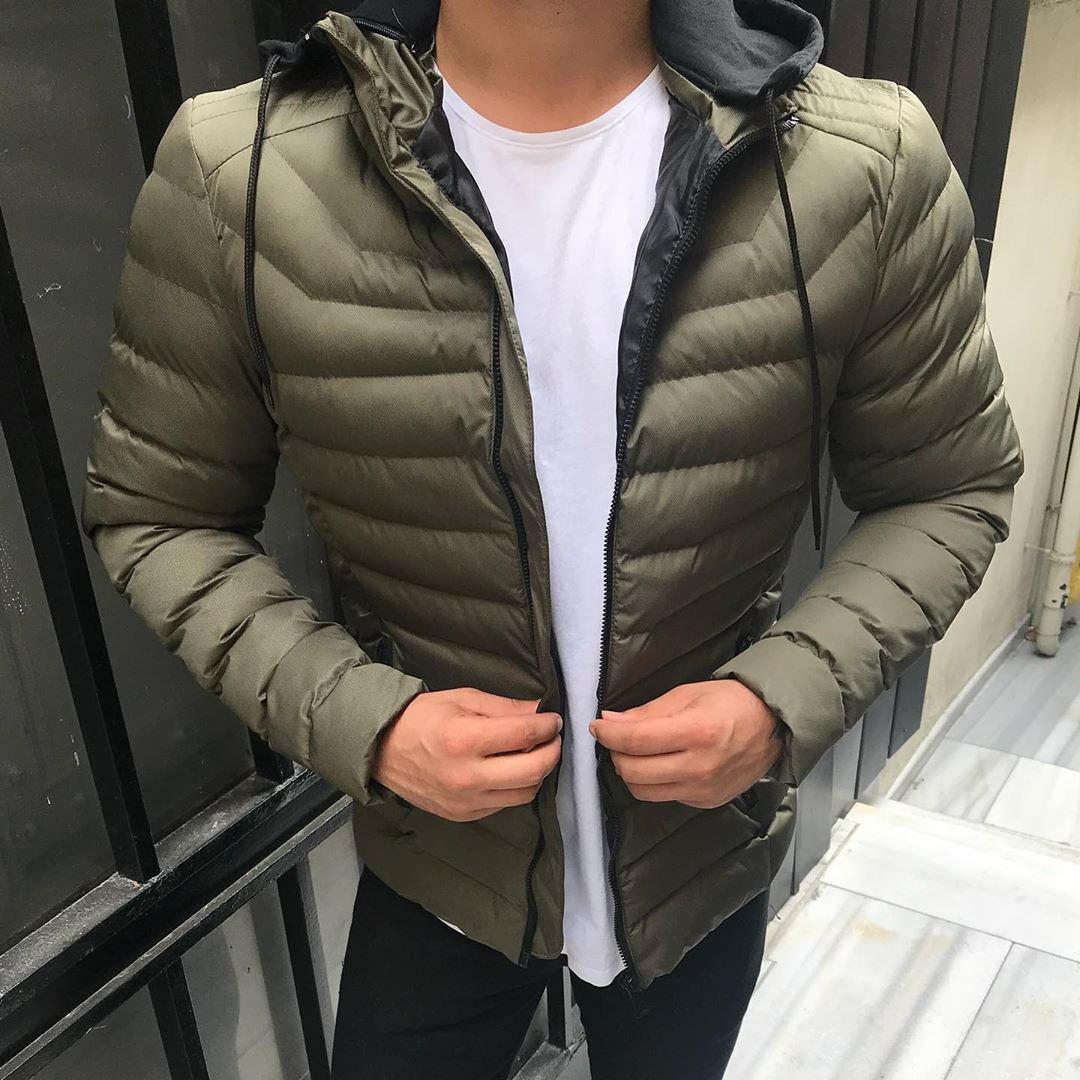 😜 Куртка - Мужскаяя куртка з с утепленным капюшоном