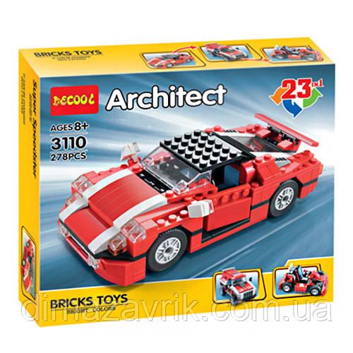 """Конструктор Decool 3110 Architect (Аналог Lego Creator) """"Универсальный 23 в 1"""" 278 деталей"""