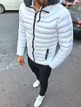 😜 Куртка - Мужскаяя куртка з с утепленным капюшоном белая, фото 2