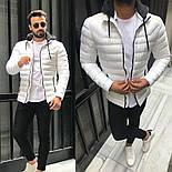 😜 Куртка - Мужскаяя куртка з с утепленным капюшоном белая, фото 3