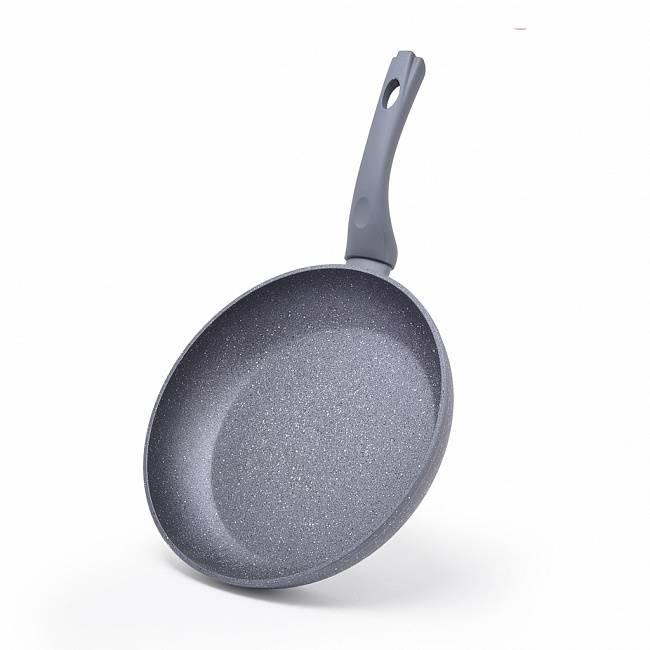 """Сковорода """"Rock Stone"""" 28х5.4см алюминиевая с антипригарным покрытием Platinum Forte Fissman"""