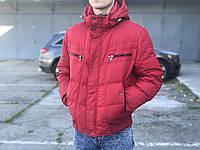 Мужская спортивная куртка-пуховик, красная