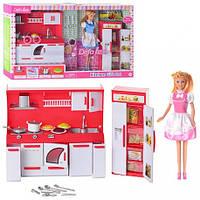 Кукла DEFA 8085 с кухней 2 вида.свет.в кор-ке,60-35-9.5см(DEFA 8085)