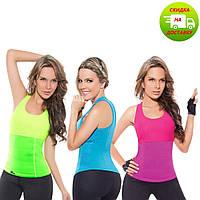 Женская майка для похудения NEOTEX HOT SHAPERS D10211  Доступна в 3 цветах:   черный , зеленый ,  розовый), фото 1