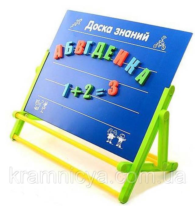 Доска знаний 3+ предназначена для изучения букв, цифр и для рисования