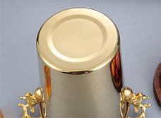 Кулер для охлаждения бутылок, подставка под алкоголь из нержавеющей стали, золотого цвета 5л, фото 3