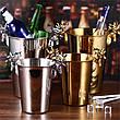 Кулер для охлаждения бутылок, подставка под алкоголь из нержавеющей стали, золотого цвета 5л, фото 5
