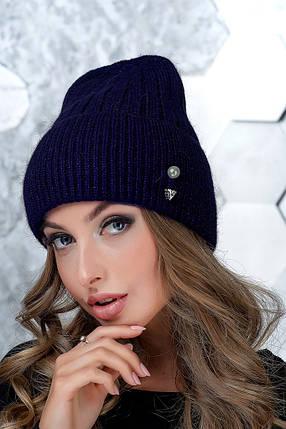 Женская шапка Flirt Сонг One Size синяя, фото 2