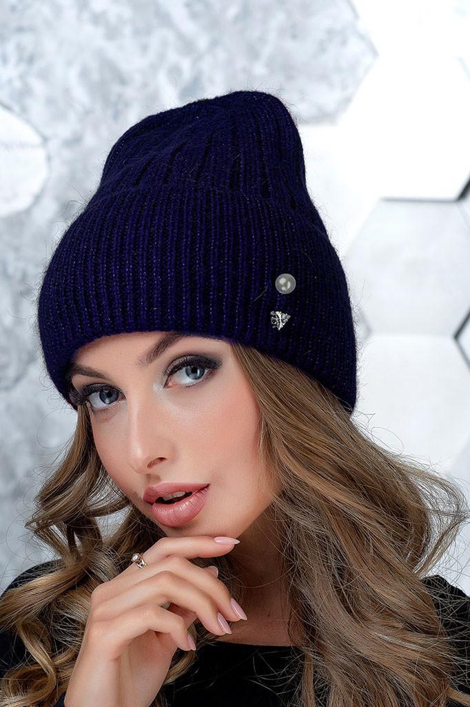 Женская шапка Flirt Сонг One Size синяя