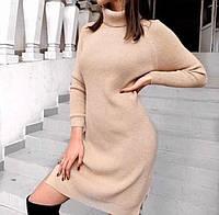 Платье теплое ангора рубчик фабричный Китай