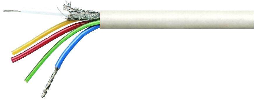 """Кабели для систем видеонаблюдения CCTV mini RG-59+(2*0,50+2*0,22) """"Одескабель"""""""