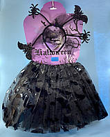 Костюм на Хэллоуин для девочки (юбка, ободок)