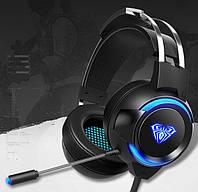 Ігрові навушники G91 зі світлодіодним підсвічуванням, фото 1
