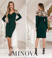 Женское платье №1886 темно-зеленый (р.42-48), фото 1