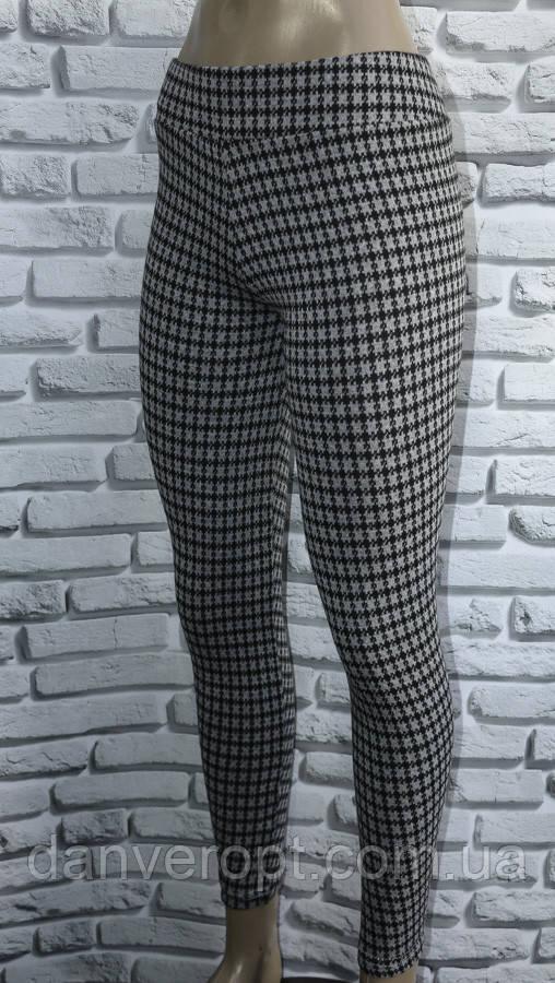 Лосины женские модные стильный принт размер S-XL норма купить оптом со склада 7км Одесса