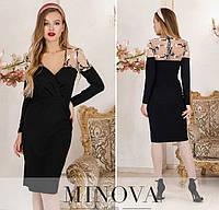 Женское платье №1886 черное (р.42-48), фото 1