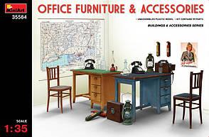 Набор офисной мебели и аксессуаров в масштабе 1/35. MINIART 35564