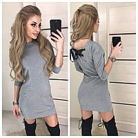 Платье с трикотажа серого цвета 42, 44 р.