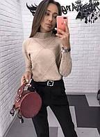 Женский теплый свитер в расцветках