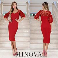 Женское вечернее платье №1887 красное (р.42-48), фото 1